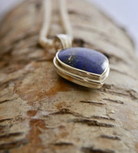 Load image into Gallery viewer, Lapis Lazuli & Blue John Double Sided Pendant