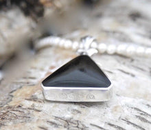 Load image into Gallery viewer, Whitby Jet & Blue John Double Sided Pendant