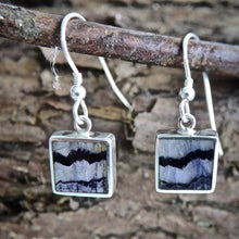 Load image into Gallery viewer, Blue John Drop Earrings 9mm Square