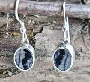 Blue John Oval Drop Earrings