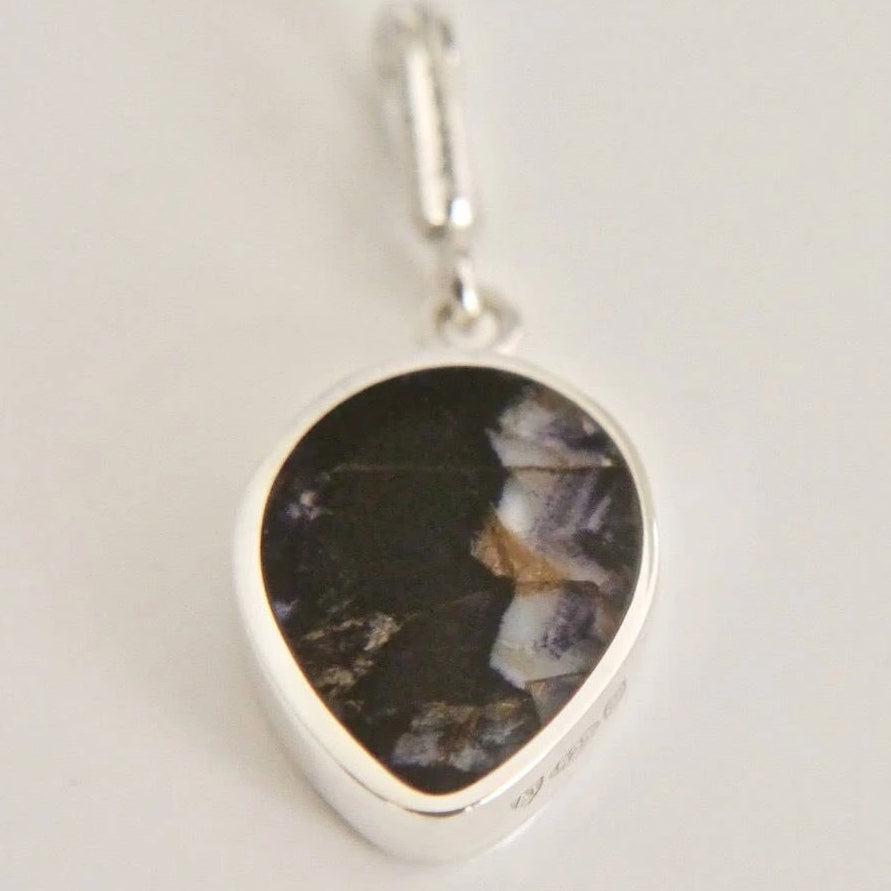 Blue John Pendant Pear Drop Design