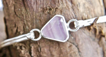 Load image into Gallery viewer, Fluorite Tension Bangle Triangle Design
