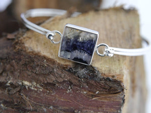 Blue John Bangle Square Design