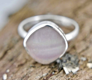 Rainbow Fluorite Square Ring
