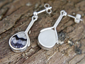 Blue John Pear Shape Drop Earrings