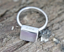 Load image into Gallery viewer, Rainbow Fluorite Silver Ring Square
