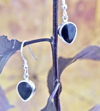 Load image into Gallery viewer, Whitby Jet Drop Earrings