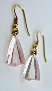 Pink Quartz Earrings in 9ct Gold
