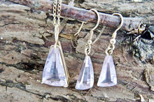 Load image into Gallery viewer, Pink Quartz Earrings in 9ct Gold
