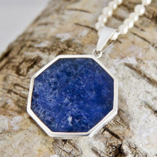 Load image into Gallery viewer, Double Sided Pendant Sodalite and Fluorite