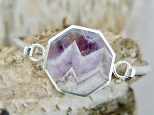 Amethyst Lace Hexagon Bangle
