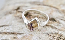 Load image into Gallery viewer, Blue John Diamond Shape Silver Ring