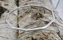 Load image into Gallery viewer, Silver Decagon Bangle 3mm D-shape