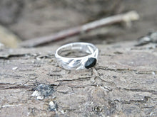 Load image into Gallery viewer, Whitby Jet Silver Ring