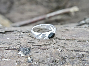 Whitby Jet Silver Ring