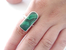 Load image into Gallery viewer, Malachite Silver Ring 25mm
