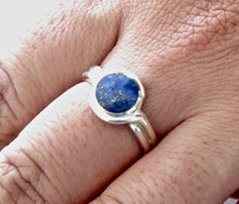 Load image into Gallery viewer, Lapis Lazuli Silver Ring 8mm Stone