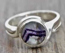 Load image into Gallery viewer, Blue John Silver Ring