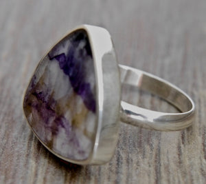 Blue John Triangle Ring 20mm