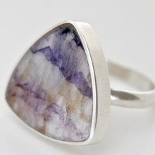 Load image into Gallery viewer, Blue John Triangle Ring 20mm