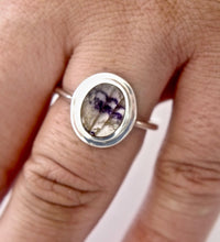 Load image into Gallery viewer, Blue John Silver Ring Oval Design