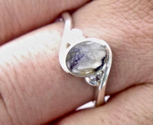 Load image into Gallery viewer, Blue John & Cubic Zirconia Ring
