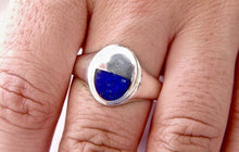 Load image into Gallery viewer, Lapis Lazuli Silver Ring with Lapis Lazuli