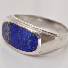 Load image into Gallery viewer, Lapis Lazuli Gents Silver Ring