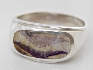 Blue John Mens Silver Ring