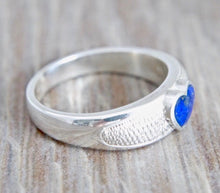 Load image into Gallery viewer, Lapis Lazuli Heart Silver Ring