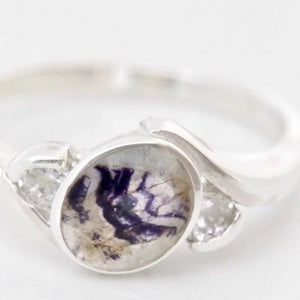 Blue John and Cubic Zirconia Ring