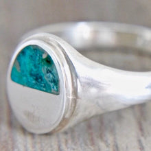 Load image into Gallery viewer, Blue Jasper Mens Silver Ring
