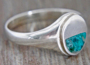 Blue Jasper Gents Silver Ring