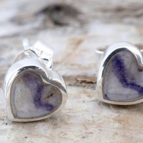 Blue John Heart Earrings