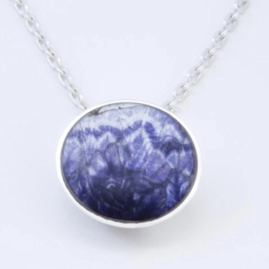 Blue John Round Pendant 12mm