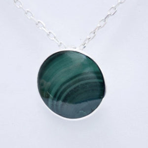 Malachite Round Pendant 12mm