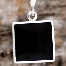 Load image into Gallery viewer, Jet Reversible Pendant with Fluorite