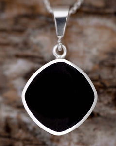 Whitby Jet & Blue John Double Sided Pendant