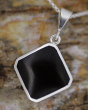 Load image into Gallery viewer, Amethyst & Jet Double Sided Pendant