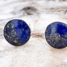Load image into Gallery viewer, Lapis Lazuli Round Earrings 9mm