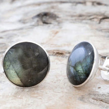 Load image into Gallery viewer, Round Labradorite Stud Earrings 7mm