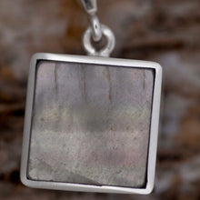 Load image into Gallery viewer, Fluorite Reversible Pendant with Jet