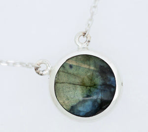Blue John & Labradorite Double Sided Pendant