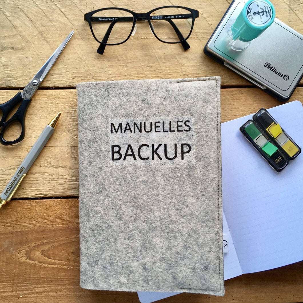 Notizbuch - Manuelles Backup