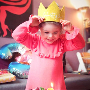 Birthday Crown | Birthday Child | Mustard yellow