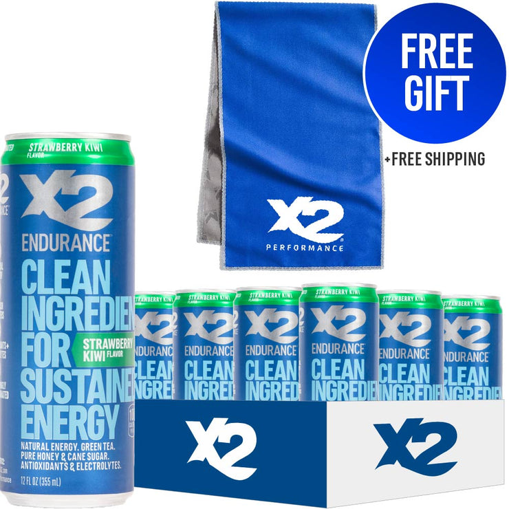 NATURAL ENERGY DRINK 12-PACK + MISSION® TOWEL