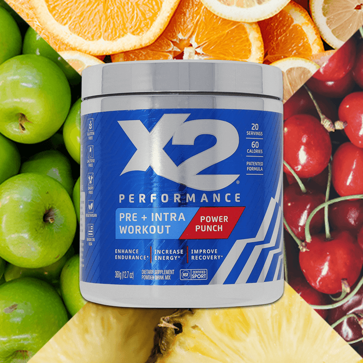 SAVE 30% X2 Pre-Workout + Intra-Workout Powder - Power Punch