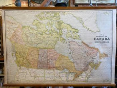 Canada map on canvas