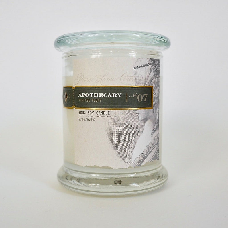 Apothecary Soy Candle Vintage Peony