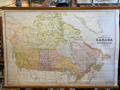 Canvas Map of Canada